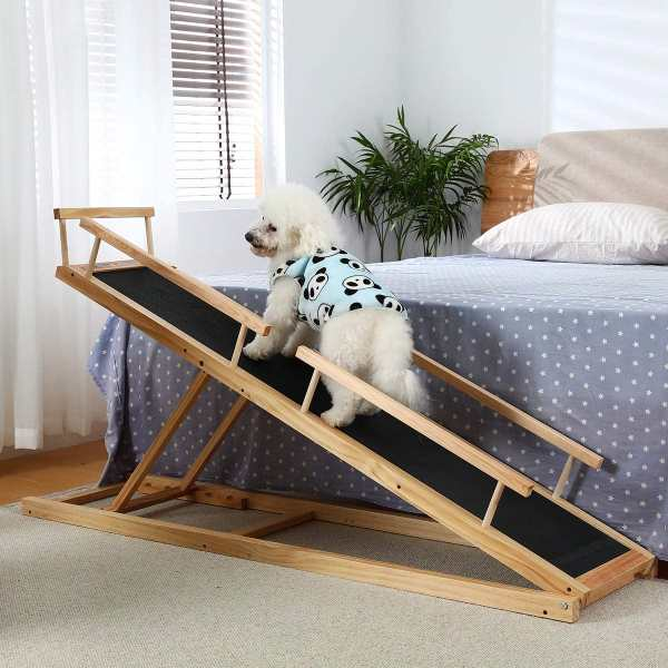 Homook Small Dog Ramp for Bed