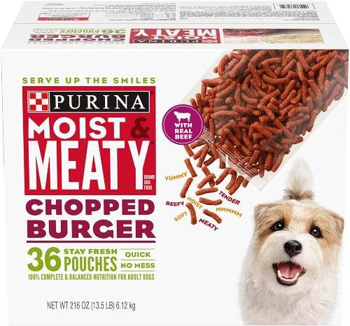 Purina Moist and Meaty Dog Food, Chopped Burger