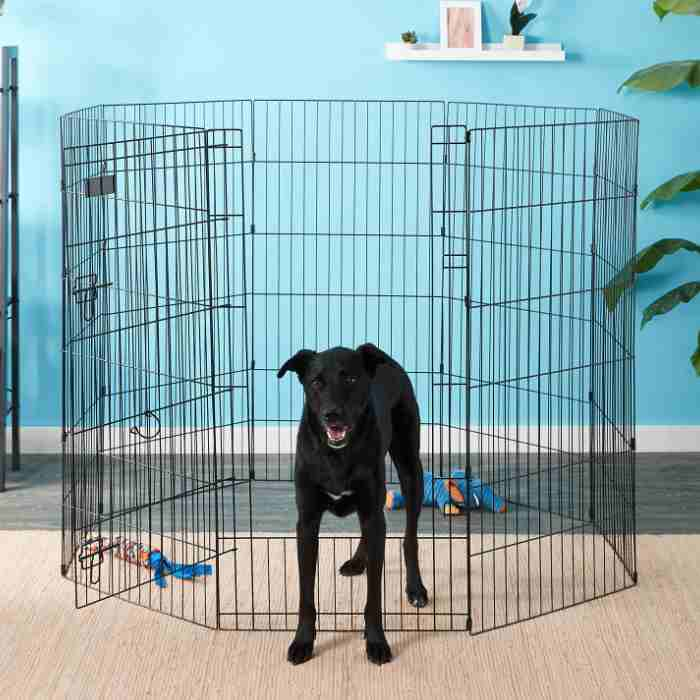 Petmate 8-Panel Wire Dog Exercise Pen with Door