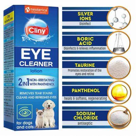 Cliny Dog Eye Wash Cleaner - Eye Infection Treatment