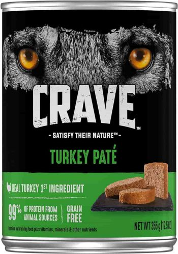 Crave High protein High Calorie wet dog food with Turkey