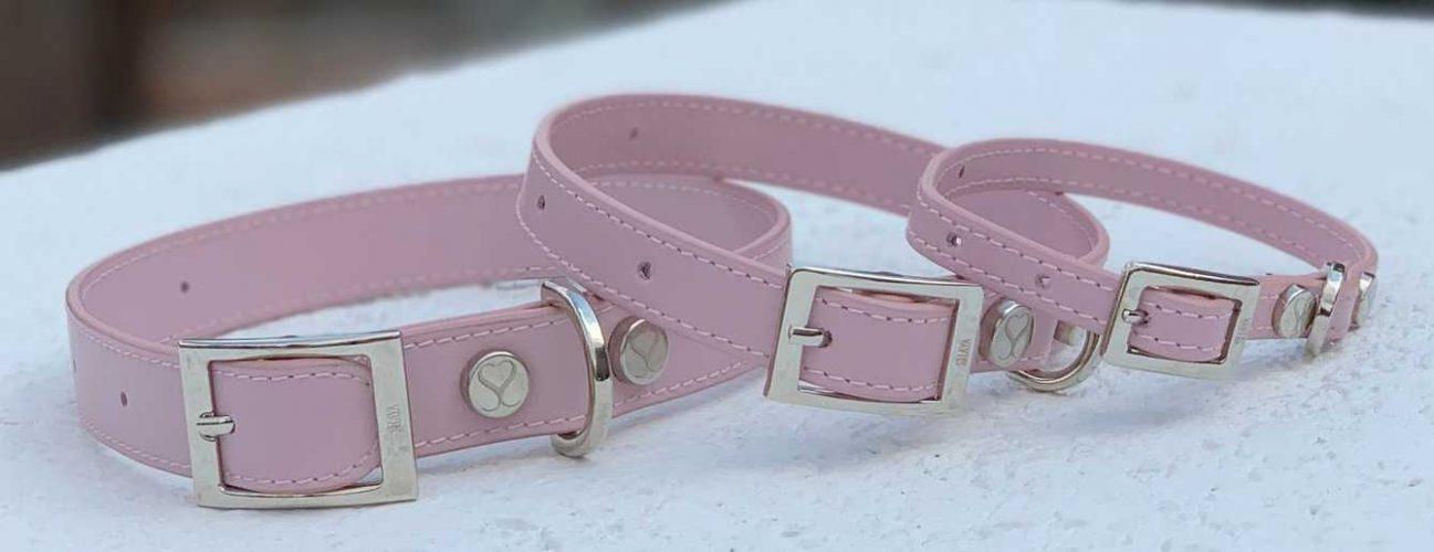 Dog Collar Leather Pink