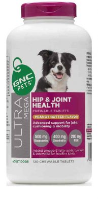 GNC Pets Hip and Joint Supplement with Glucosamine For Dog Peanut Butter Flavor