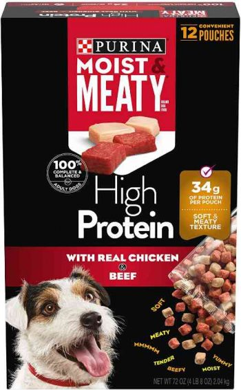 Moist and Meaty Dog Food, High Protein