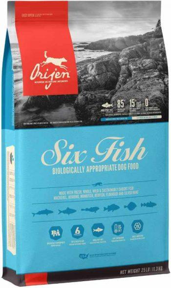 Orijen Six Fish High Protein Low Carb dog food