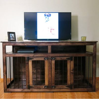 Pet-Pro-LUCKY-KENNELS-Entertainment-DOUBLE-DOG-Furniture-Crate-Kennel