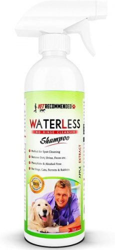 Vet Recommended Waterless No-Rinse Dog Shampoo