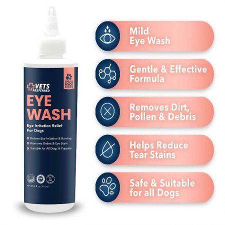 Vets Preferred Dog Eye Wash Cleaner & Eye Rinse