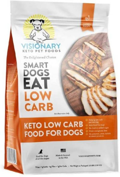 Visionary Pet Low Carb High Protein Dog Food, Chicken Flavor
