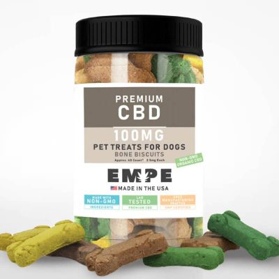 CBD Treats for Dogs, Bacon Bone Biscuits